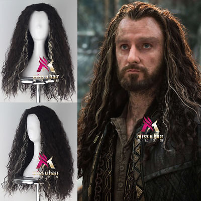 The Hobbit Thorin Oakenshie Men Long Curly Cosplay Wig /Wigs