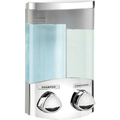 Seifenspender Duo chrom Shampoo Spender Seife Soap Dispenser  Wandmontage Bad