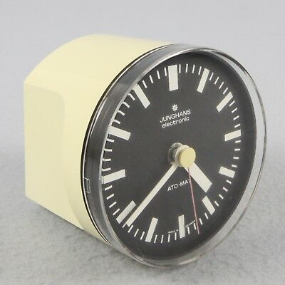 rare JUNGHANS ATO-MAT electronic TABLE CLOCK + TIMER '70 working no MAX BILL