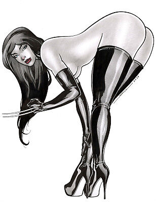 X-23 X-MEN BY MARCELO MUELLER- ART PINUP Drawing PAGE