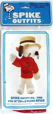 """1982 Peanuts Snoopy's Brother SPIKE T-SHIRT OUTFIT # 7734 for 12"""" PLUSH - in Pkg"""