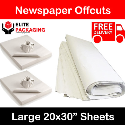 500 Sheets WHITE PACKING PAPER - Newspaper Offcuts Chip Shop Paper Grease Proof