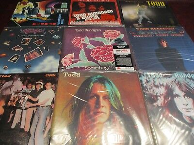 Todd Rundgren Collection Of 8 Audiophile Lp's + 3 Utopia Anthology Swing Live