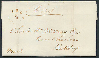 1840 SFL Truro NS to Halifax, OHMS, Unrated, Truro Star Postmark
