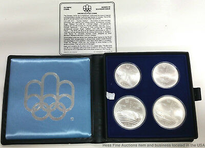 1976 Montreal Olympic Games Sterling Silver Coin Set Canada Uncirculated