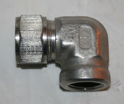 "3/4"" Tube x 1/2"" FNPT SS Elbow Fitting Parker"