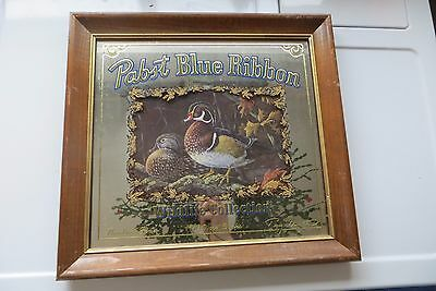 Pabst Blue Ribbon Wildlife Collection 1990 Wood Ducks,3RD IN SERIES GLASS SIGN