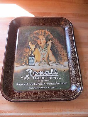 Rexall 93 Hair Tonic advertising serving tray or tip tray health and beauty