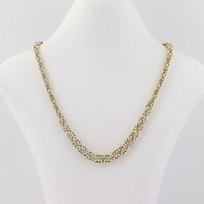 "Graduated Byzantine Chain Necklace 18"" - 14k Yellow Gold Lobster Claw Clasp"