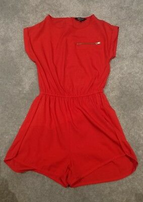 red girls playsuit new look bnwot age 10