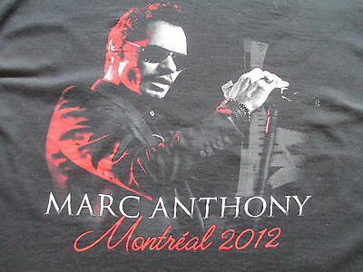 Marc Anthony Montreal 2012 Tour Black White Red T Shirt L Large XL X-Large
