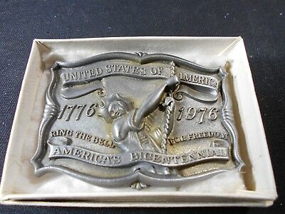 Vintage Belt Buckle United States of America 1776-1976 America's Bicentennial