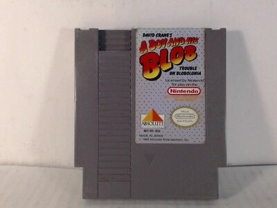 A BOY AND HIS BLOB TROUBLE ON BLOBOLONIA NES Nintendo Faded