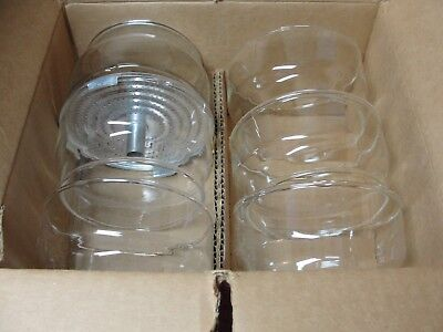 Lot of 6 Vintage NOS Pyrex Coffee Percolator Part No. 77-CBG Glass Basket Sleeve