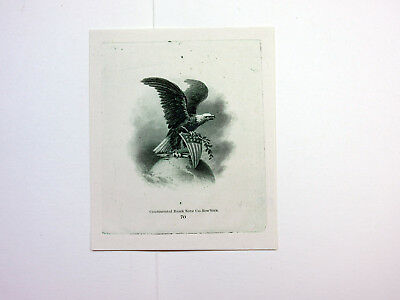 ABNC Archives c.1880s Intaglio PROOF Vignette US Eagle Globe Continental BNC XF+