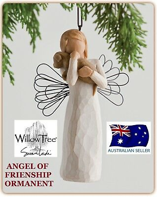 ANGEL OF FRIENDSHIP ORNAMENT Willow Tree Figurine By Susan Demdaco Lordi NEW