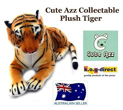 COLLECTABLE CUTE AZZ PLUSH SOFT TOY STUFFED ANIMAL TIGER 21cm x 40cm B-7