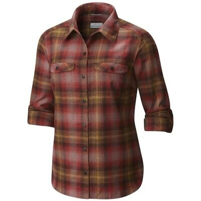 Columbia Silver Ridge L/S Flannel Shirt Women sail red ombre plaid Damenbluse