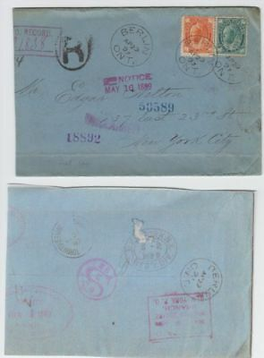 oldhal-Canada/Registered/Berlin/1899/Good 8cent Stamp to New York