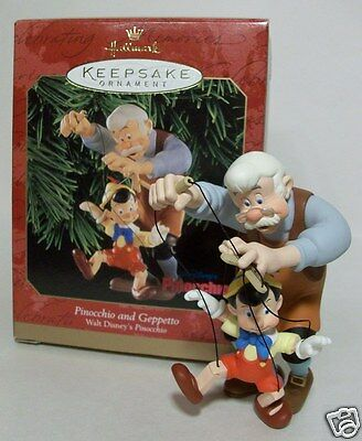 Hallmark Ornament 1999 Pinocchio and Geppetto Disney's Pinocchio #QXD4107 NEW