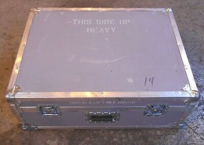 "Large Custom Built heavy duty shipping Road Case 12"" height 24"" width 31"" length"
