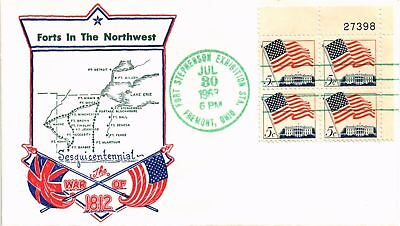 Dr Jim Stamps Us War Of 1812 Sesquicentennial Fort Stephenson Exhibit 1963 Event