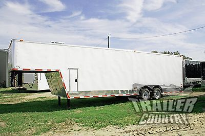NEW 2018 8.5x32 8.5 x 32 Enclosed Gooseneck Cargo Trailer Car Race Auto Hauler