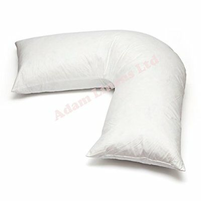 Duck Feather   Down - V Shaped Pillow Only Washable, Anti Dust Mite Nursing Preg