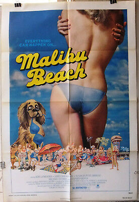 "Malibu Beach (James Daughton) 41""x27"" Original Movie US Poster 70s"
