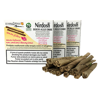 Kit  3  PAKETE  NIRDOSH  Herbal Zigaretten tendu Leaf Wrap * frei von Nikotin