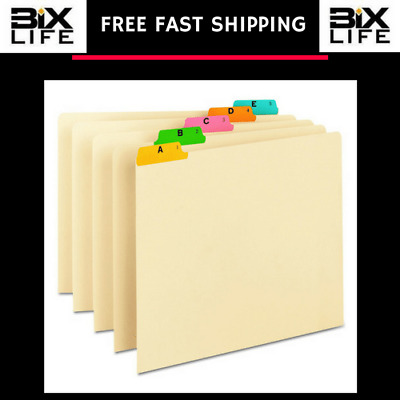 Smead Recycled Top Tab File Guides, Alpha, 1/5 Tab, Manila, Letter (Set of 25)