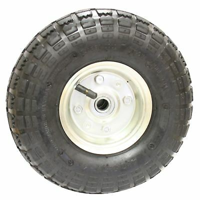 """10"""" Sack Truck Pneumatic Spare Wheel Tyre Silver Trolley Cart"""