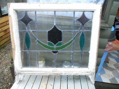 Art Nouveau Stained Glass Leaded Sash Window For Interior Design or Restoration
