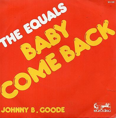 Sg.  -   THE EQUALS   -   BABY COME BACK  -   france