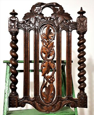 Hand Carved Wood Panel Antique French Oak Carving Sculpture Salvaged Ornament 6