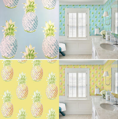 Pineapple Tropical Leaves Fruit Luxury Wallpaper A Street Prints Paste The Wall