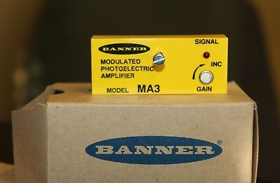 Banner MA3 Modulated Photoelectric Amplifier Module (19724) - BRAND NEW IN BOX