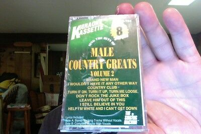 Singing Machine- Male Country Greats Volume 2- karaoke- new/sealed cassette