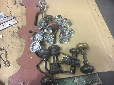 Lot of 10 GLASS door knobs salvaged elements ALL 4 1 price - additional pieces