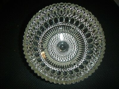 Antique Vintage Clear Glass Art Deco 3 chain ceiling lamp shade