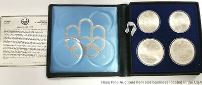 Sterling Silver 1976 Montreal Olympic Games Coin Set Canada Water Sports