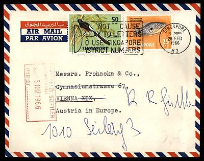 Singapore 1966 Delay to Letters Use Singapore Street Numbers Slogan Cancel on co
