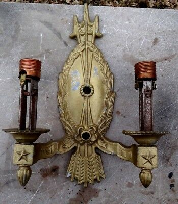 Vintage - Wall Sconce Body - Arrows, Stars & Wreath - Antique Architectural