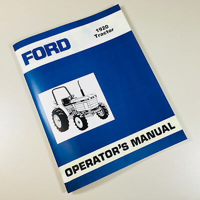 Ford 1920 Tractor Operators Owners Manual
