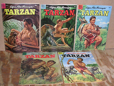 Edgar Rice Burroughs' Tarzan-Five Vintage Dell Comic Books-1955