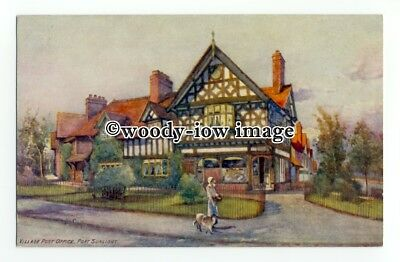 tq2423 - Cheshire - The Old Village Post Office at Port Sunlight - Postcard