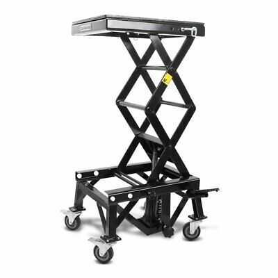 Hydraulic scissor lift ConStands Moto Cross XL black+wheels