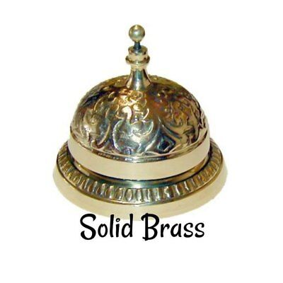 Desk Bell - Cast Brass Victorian Style Plated Antique Service