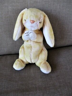 "TY Beanie Babies 6 "" Tall Sitting RABBIT Named ""Grace"" 2000 Yellow Praying"