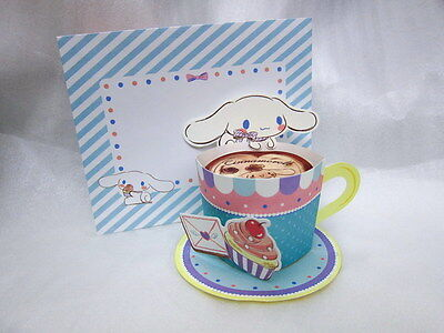 Sanrio Japan Cinnamoroll Coffee Cup 3D pop-up card